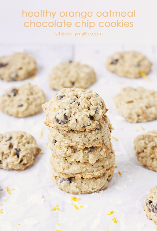 Healthy Oatmeal Coconut Chocolate Chip Cookies  Mini Fruit Pizzas Recipe Is This Really My Life