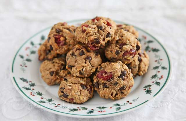 Healthy Oatmeal Coconut Chocolate Chip Cookies  28 Healthy Holiday Cookie Recipes Fit Foo Finds