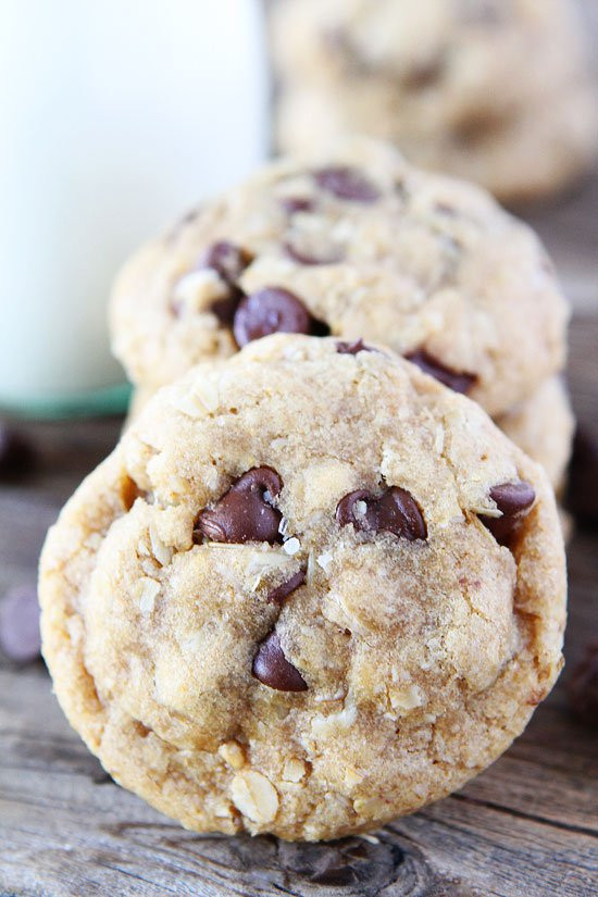 Healthy Oatmeal Coconut Chocolate Chip Cookies  Coconut Oil Chocolate Chip Cookies
