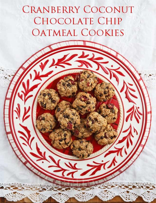 Healthy Oatmeal Coconut Chocolate Chip Cookies  Cranberry Coconut Chocolate Chip Oatmeal Cookies Recipe