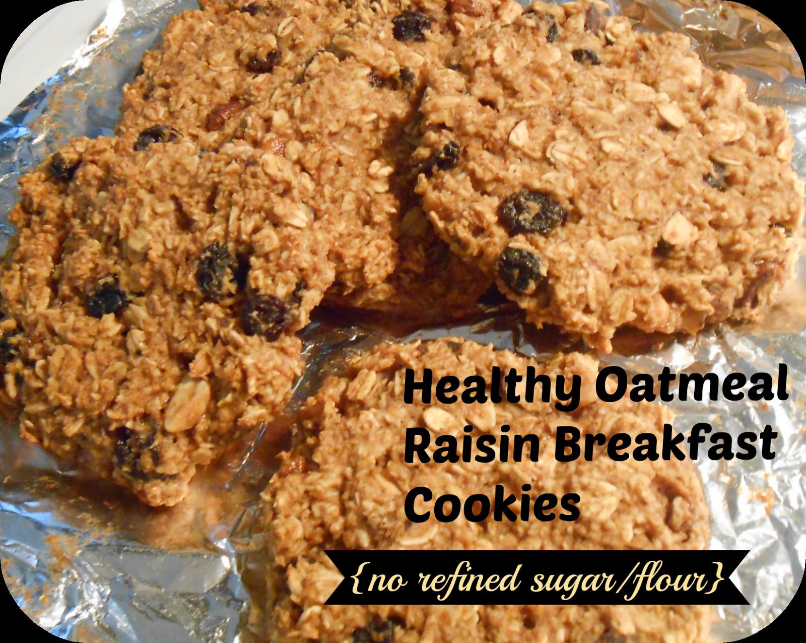 Healthy Oatmeal Cookies No Flour  Healthy oatmeal raisin breakfast cookies no refined sugar