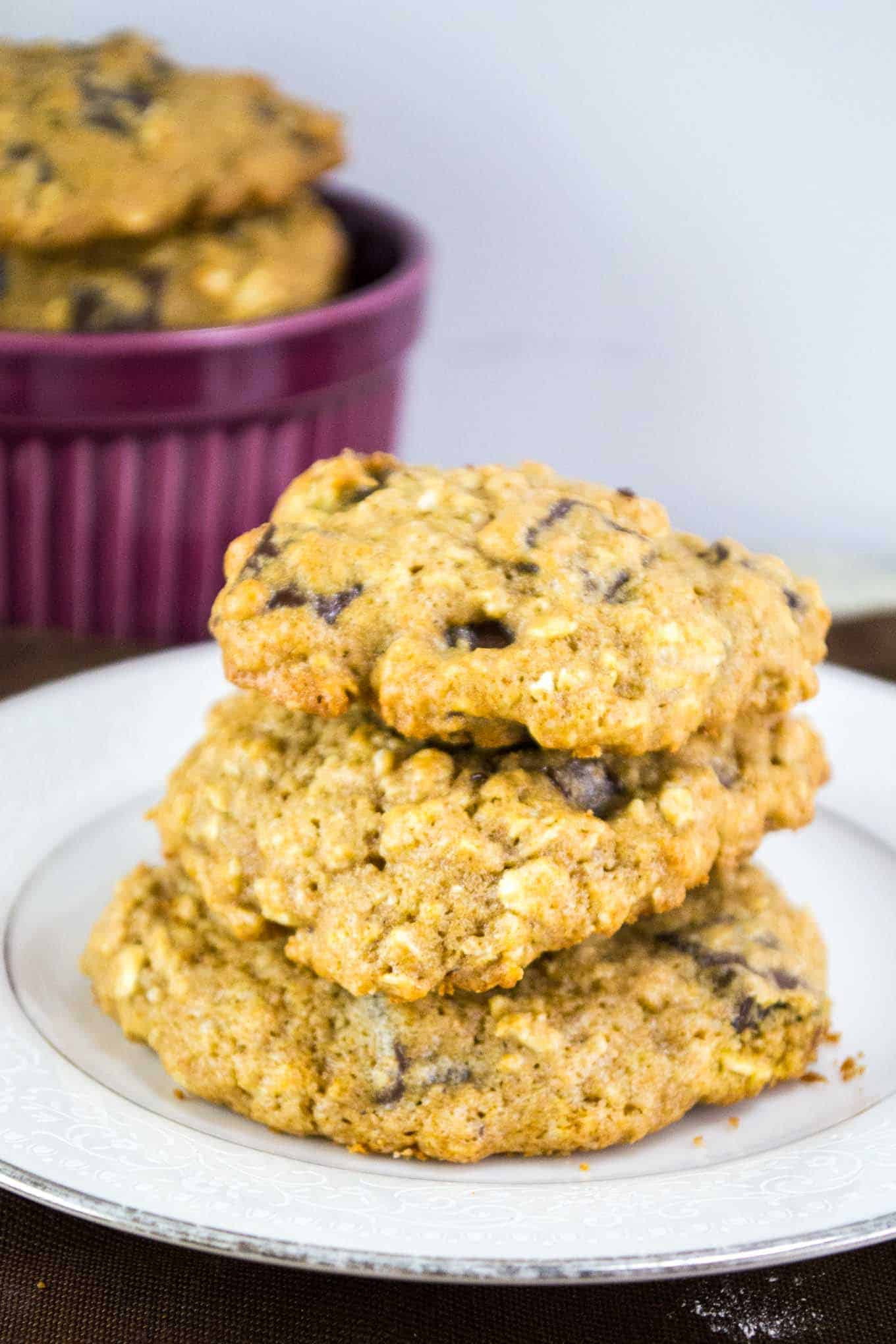 Healthy Oatmeal Date Cookies  Healthy Oatmeal Chocolate Chunk Cookies Build Your Bite