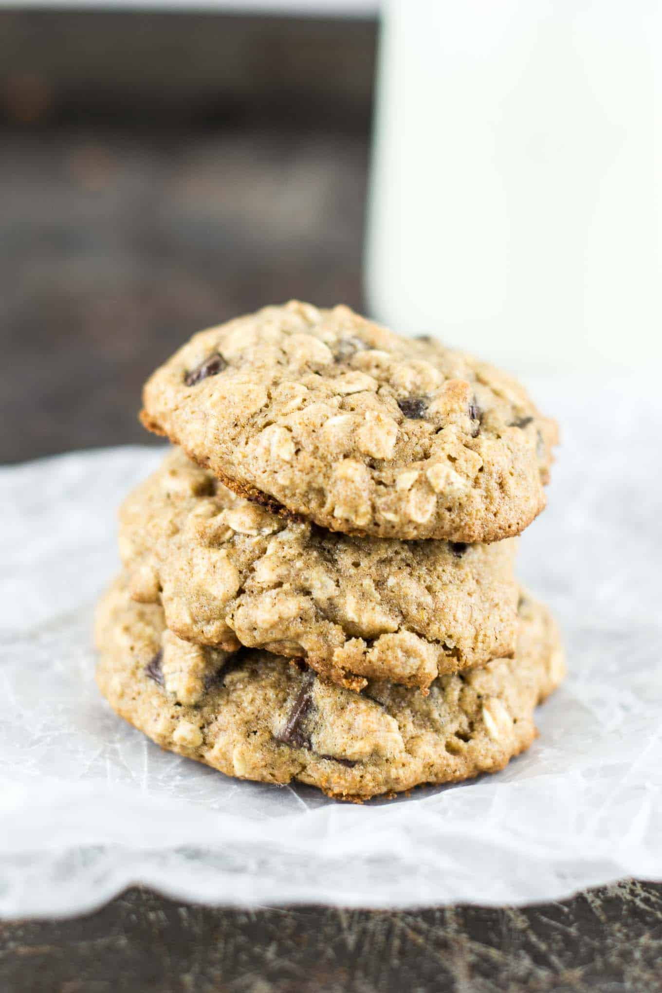 Healthy Oatmeal Date Cookies  Healthy Oatmeal Chocolate Chunk Cookies Recipe
