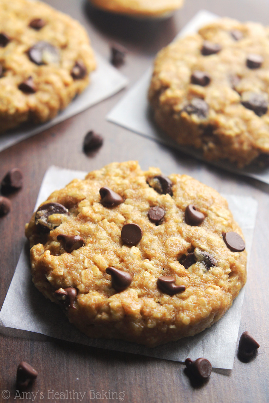 Healthy Oatmeal Desserts  Chocolate Chip Peanut Butter Oatmeal Cookies Recipe Video