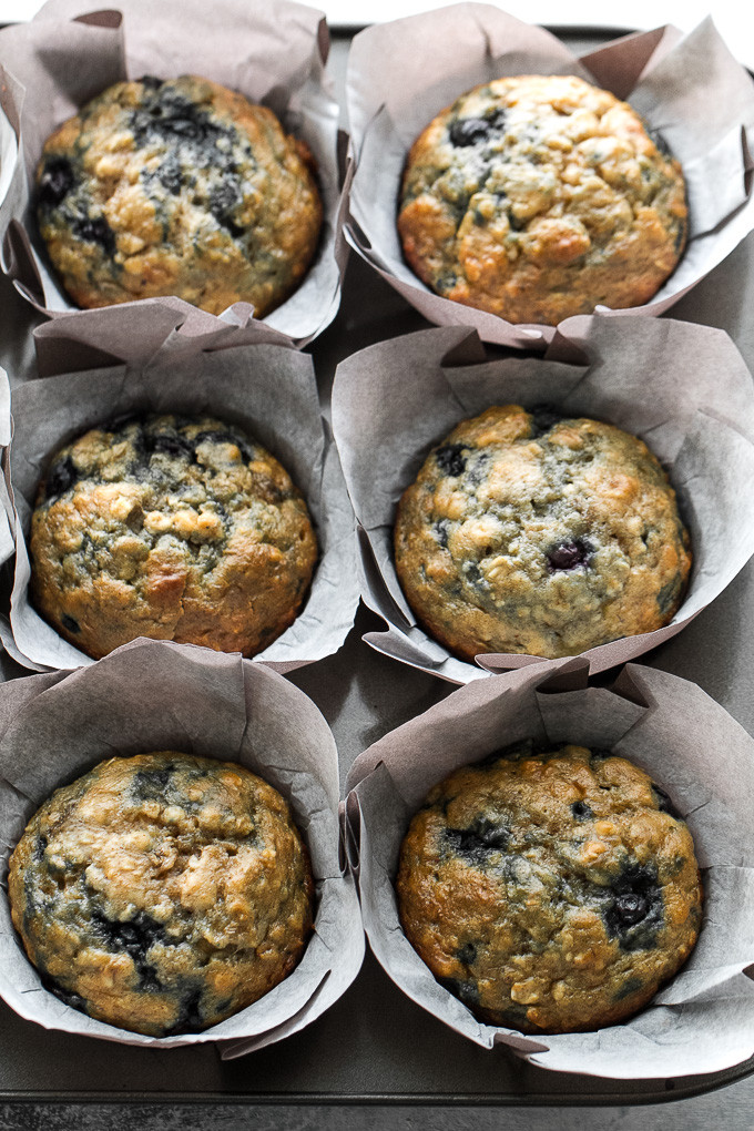Healthy Oatmeal Muffins Applesauce  healthy banana oatmeal muffins with applesauce