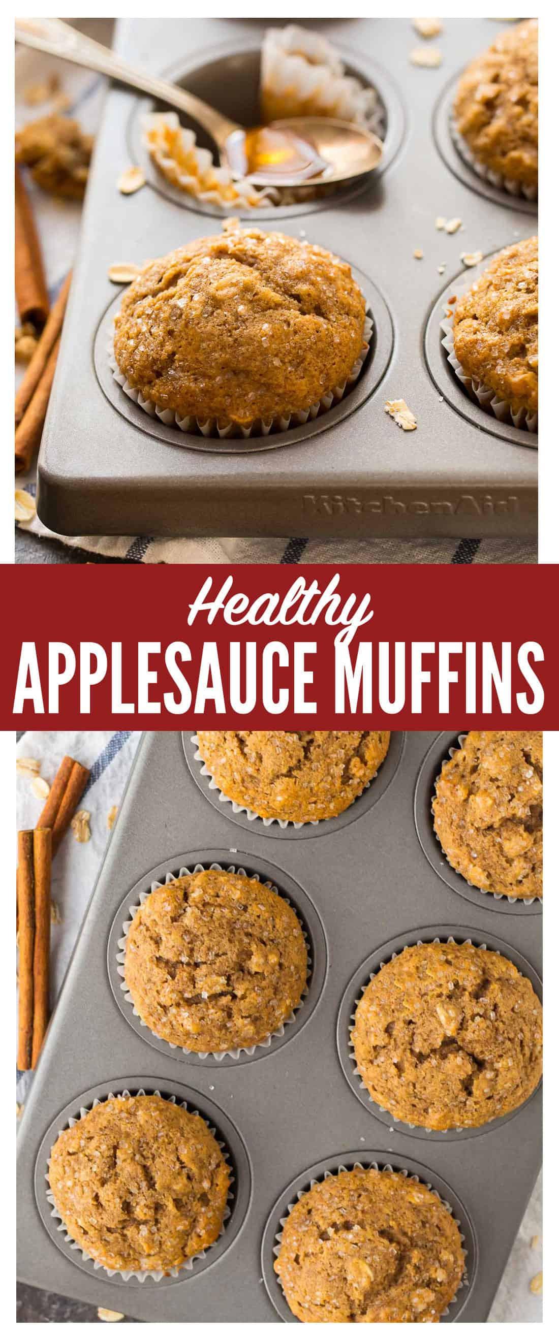 Healthy Oatmeal Muffins Applesauce  Applesauce Muffins