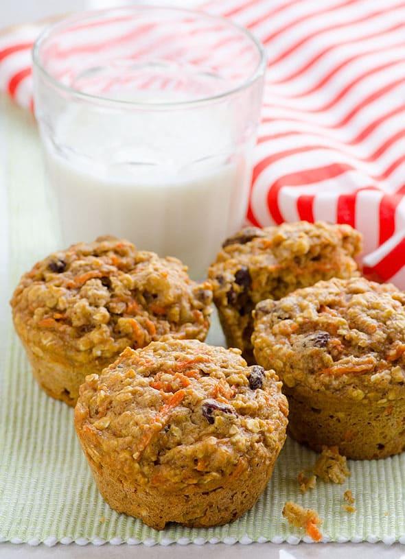Healthy Oatmeal Muffins Applesauce  applesauce oatmeal muffins