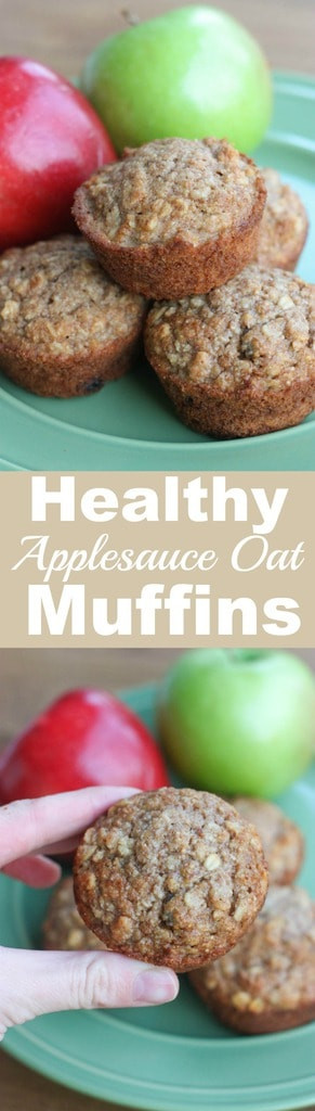 Healthy Oatmeal Muffins Applesauce  Healthy Applesauce Oat Muffins Tastes Better From Scratch