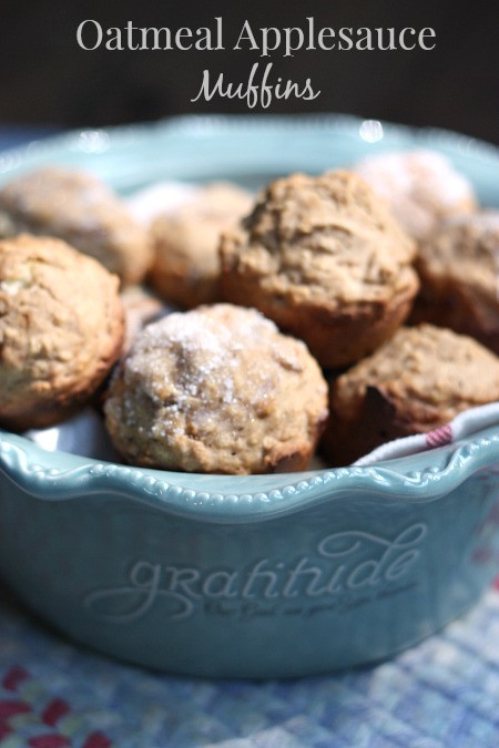 Healthy Oatmeal Muffins Applesauce  Oatmeal Applesauce Muffin Recipe Balancing Beauty and Bedlam