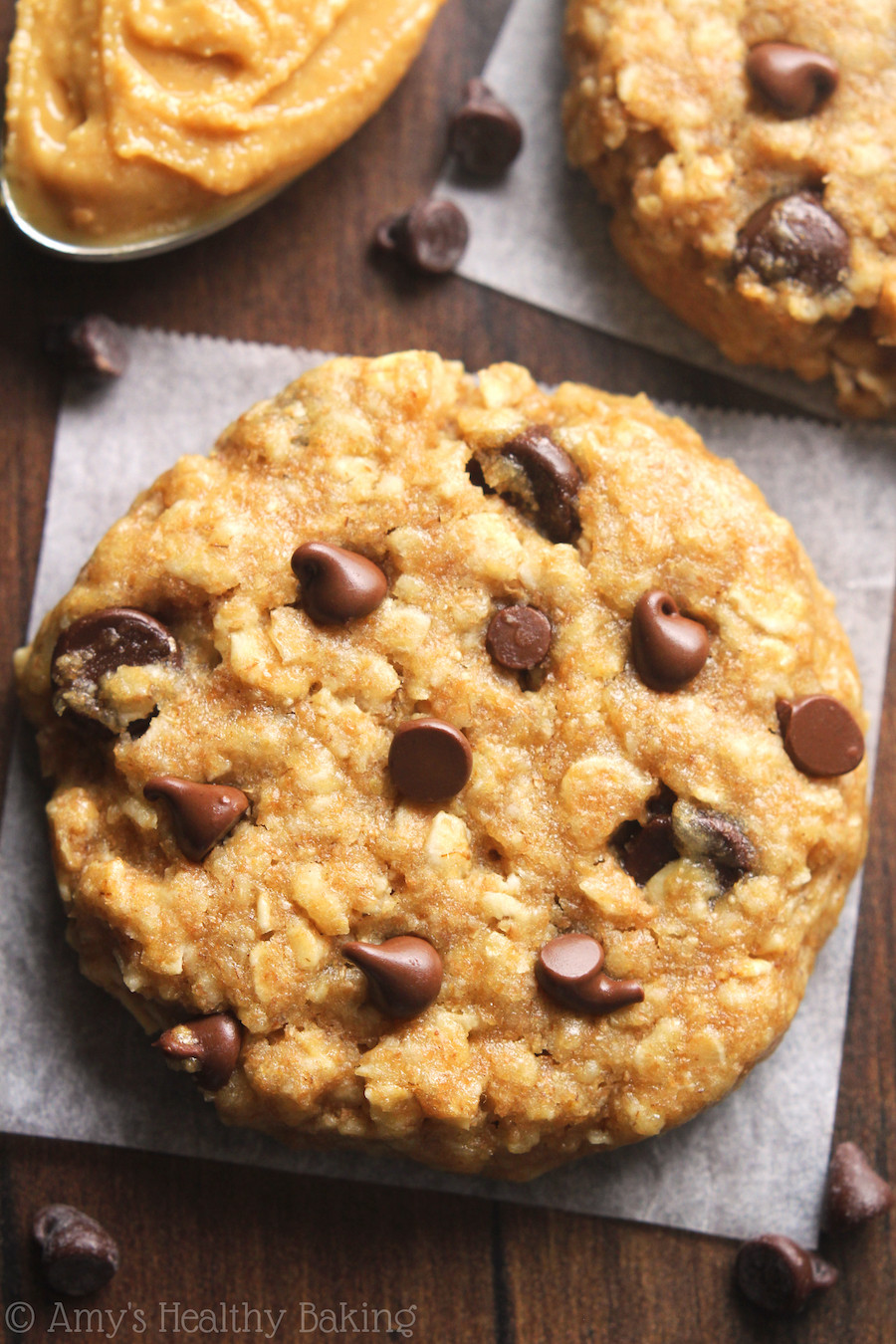 Healthy Oatmeal Peanut Butter Cookies  Chocolate Chip Peanut Butter Oatmeal Cookies Recipe Video