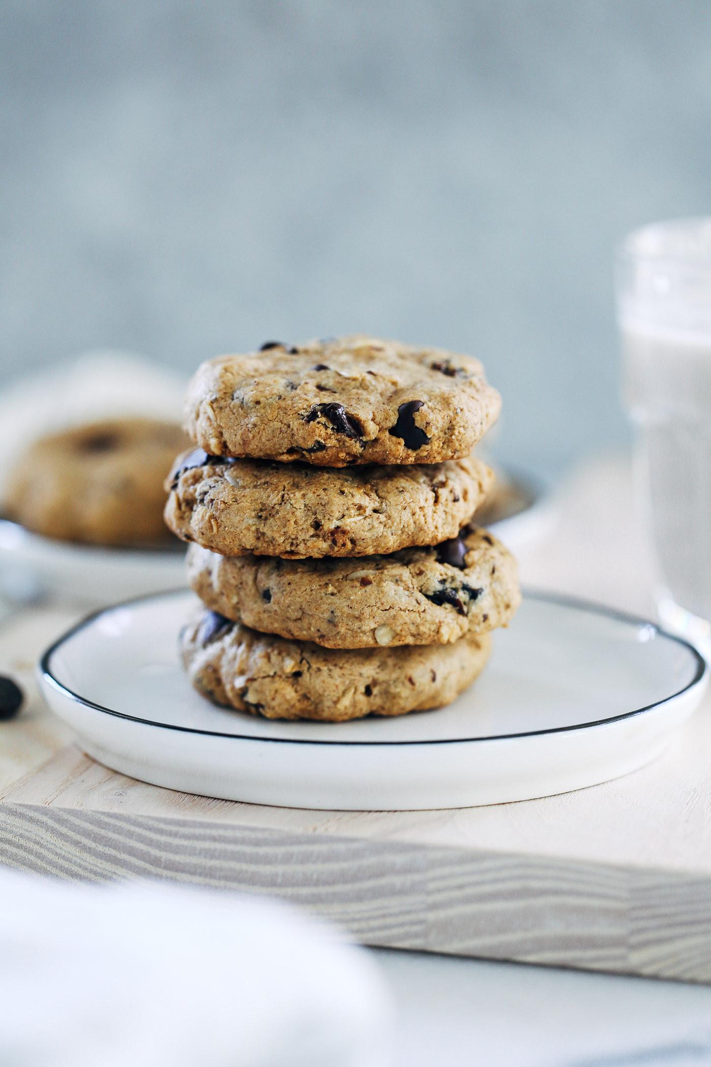 Healthy Oatmeal Raisin Chocolate Chip Cookies  Rip s Oatmeal Raisin Chocolate Chip Cookies Making Thyme