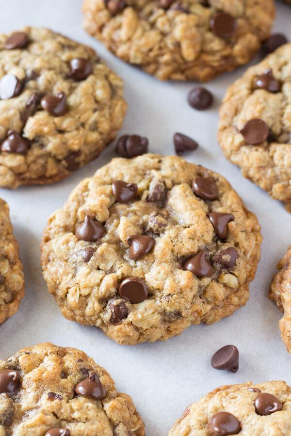 Healthy Oatmeal Raisin Chocolate Chip Cookies  Soft and Chewy Oatmeal Chocolate Chip Cookies Just so Tasty