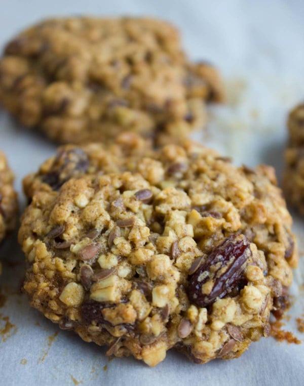 Healthy Oatmeal Raisin Cookies  Healthy Oatmeal Raisin Cookies • Two Purple Figs