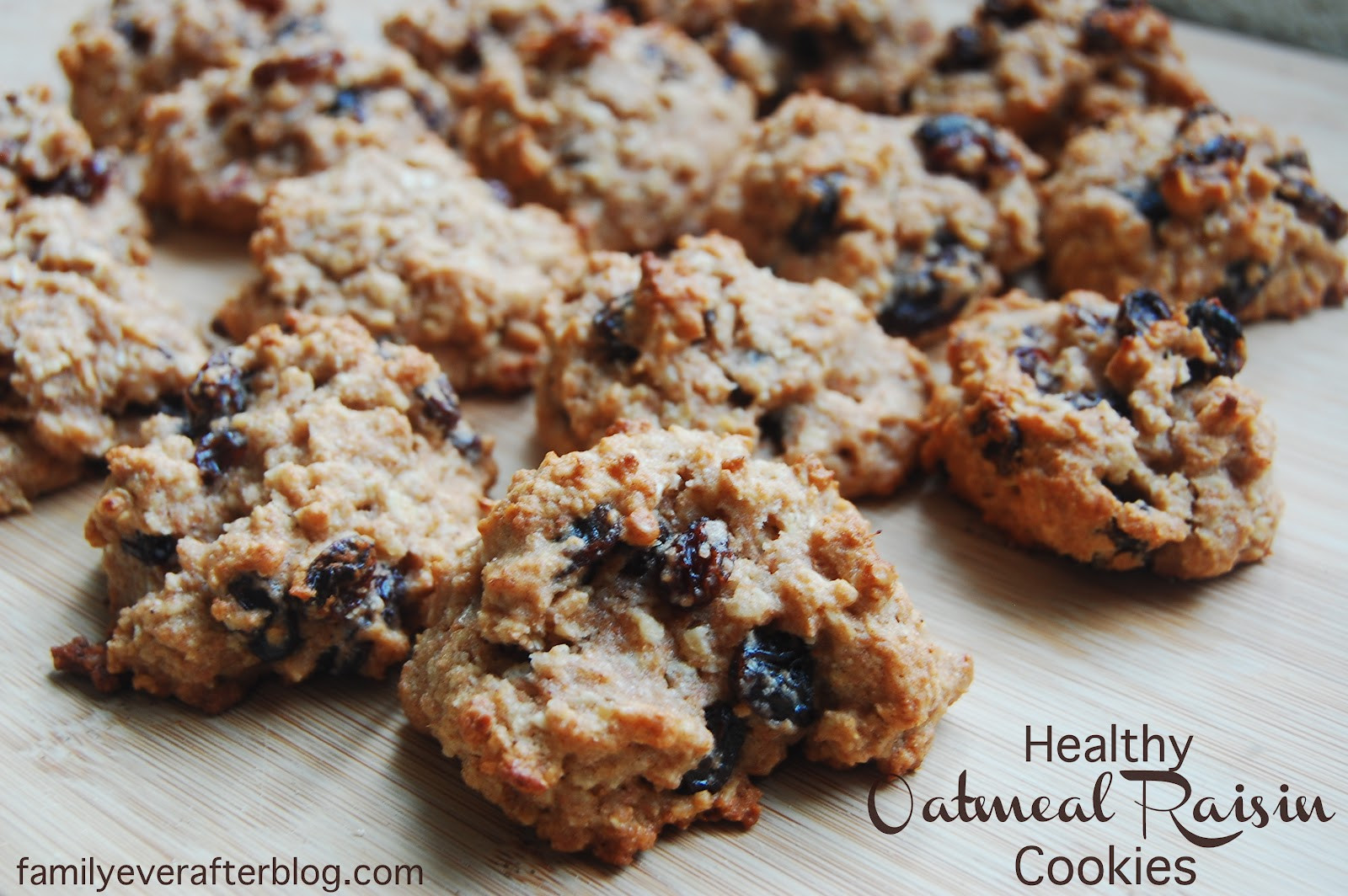Healthy Oatmeal Raisin Cookies Applesauce  Healthy Oatmeal Raisin Cookies