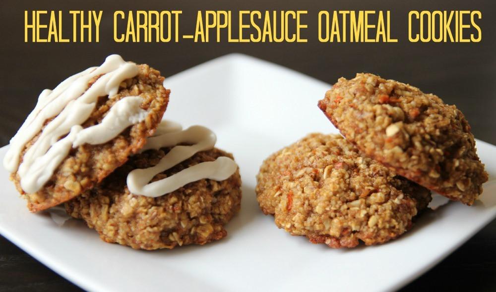 Healthy Oatmeal Raisin Cookies Applesauce  Healthy Carrot Applesauce Oatmeal Cookies