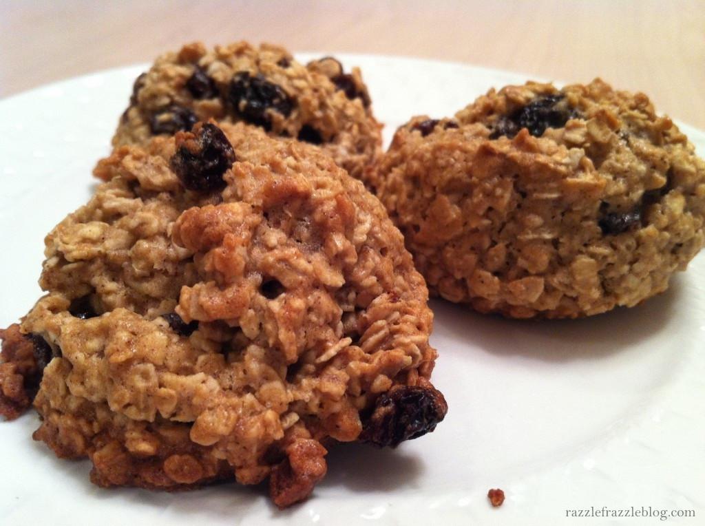 Healthy Oatmeal Raisin Cookies Applesauce  Banana Oatmeal Raisin Cookies