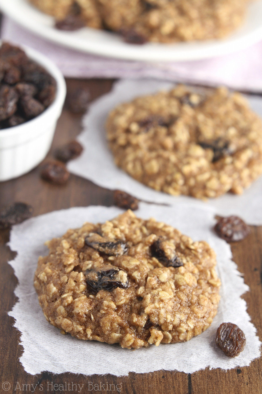 Healthy Oatmeal Raisin Cookies Recipe  heart healthy oatmeal raisin cookies