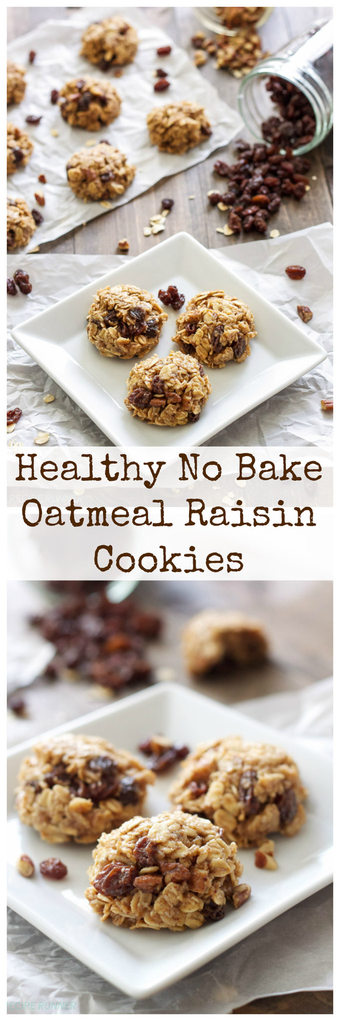Healthy Oatmeal Raisin Cookies Recipe  Healthy No Bake Oatmeal Raisin Cookies Recipe Runner