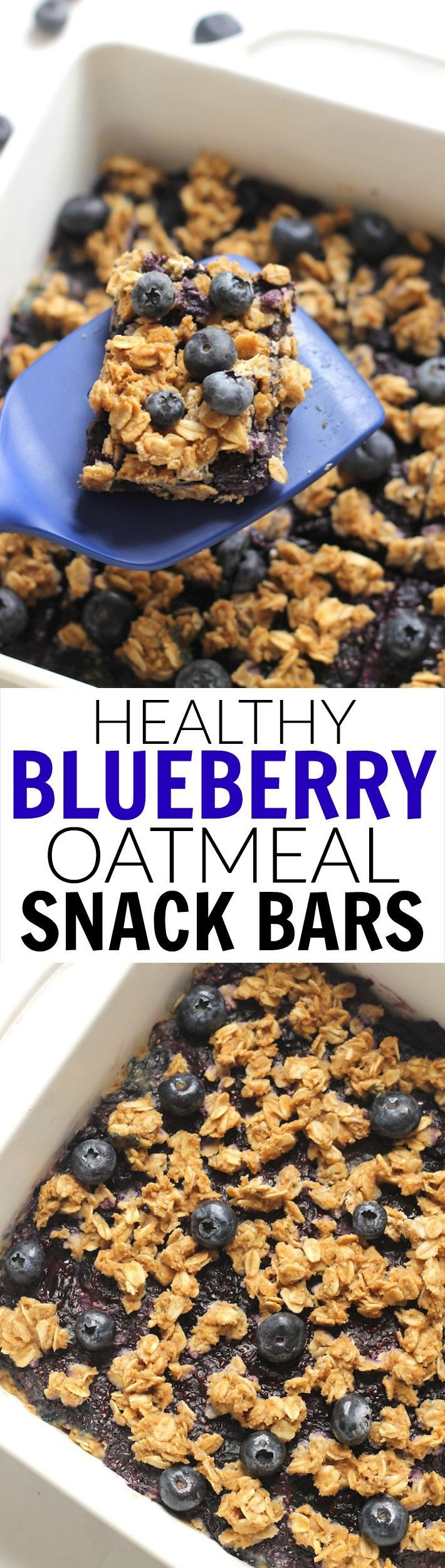 Healthy Oatmeal Snacks  Healthy Blueberry Oatmeal Snack Bars made with no flour