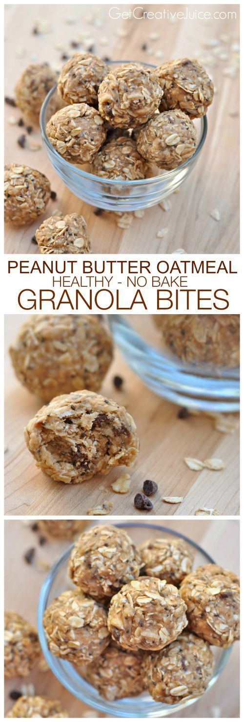 Healthy Oatmeal Snacks  Peanut Butter Oatmeal Power Bites Easy no bake recipe