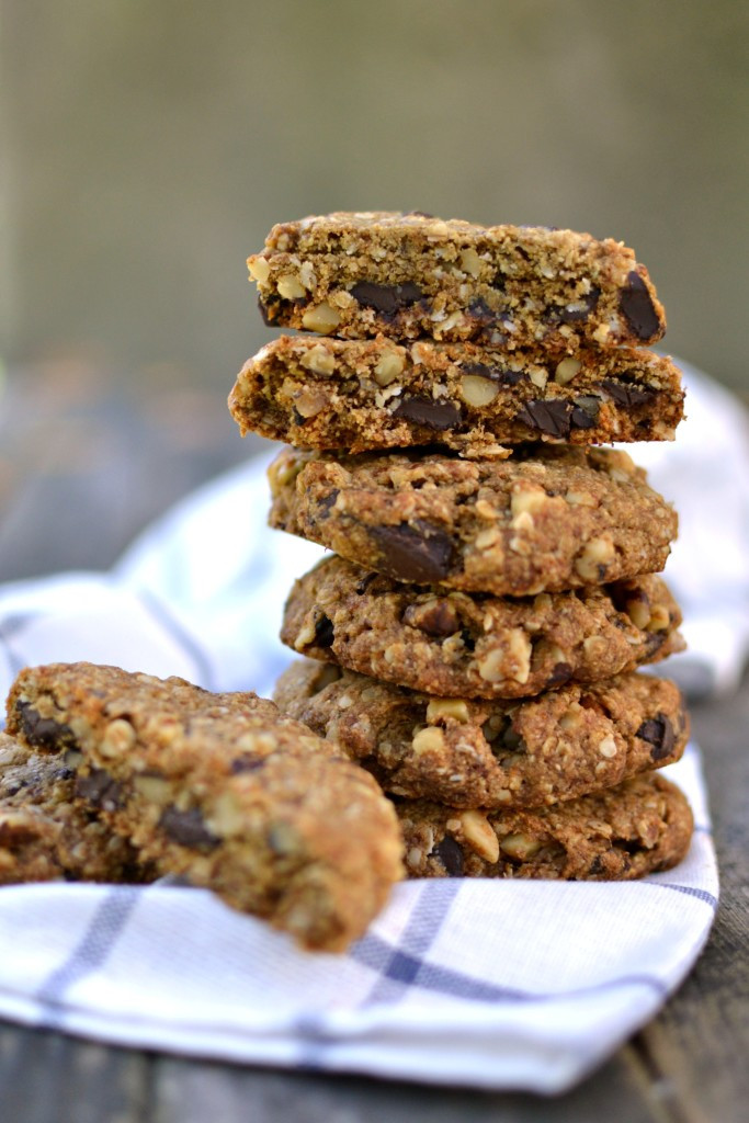 Healthy Oatmeal Walnut Cookies  Vegan Walnut Chocolate Chunk Oatmeal Cookies Radiant Rachels