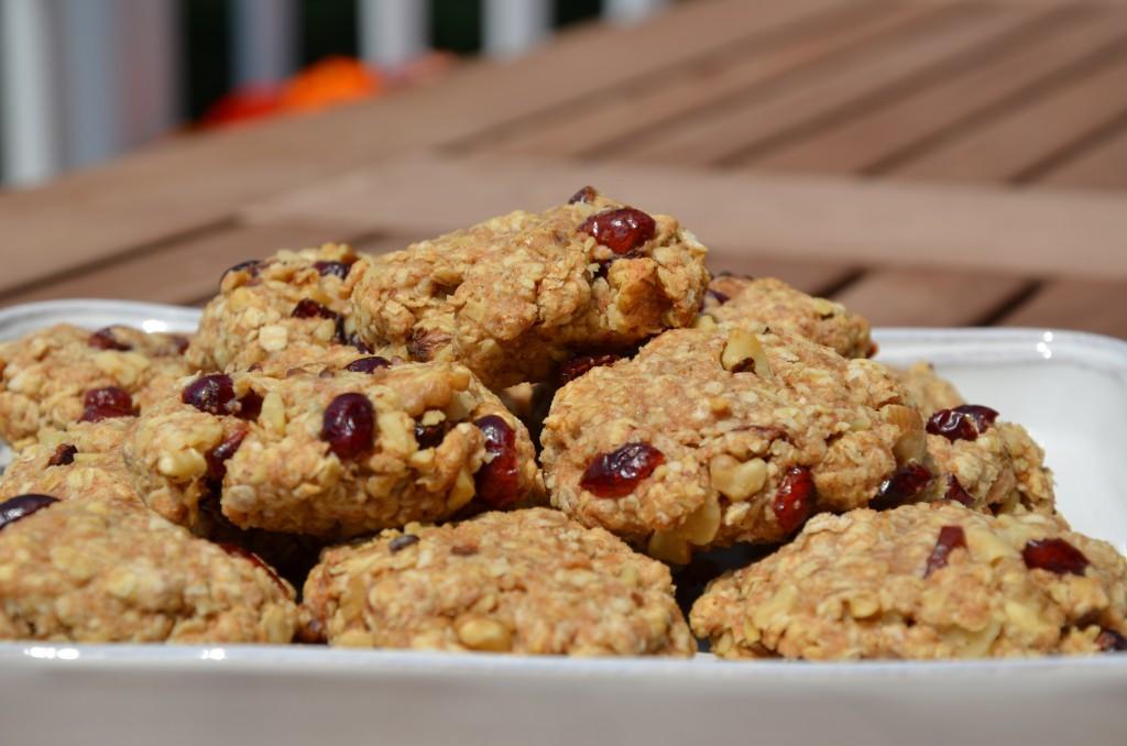 Healthy Oatmeal Walnut Cookies  Cranberry Walnut Oatmeal Energy Cookies BMoore Healthy