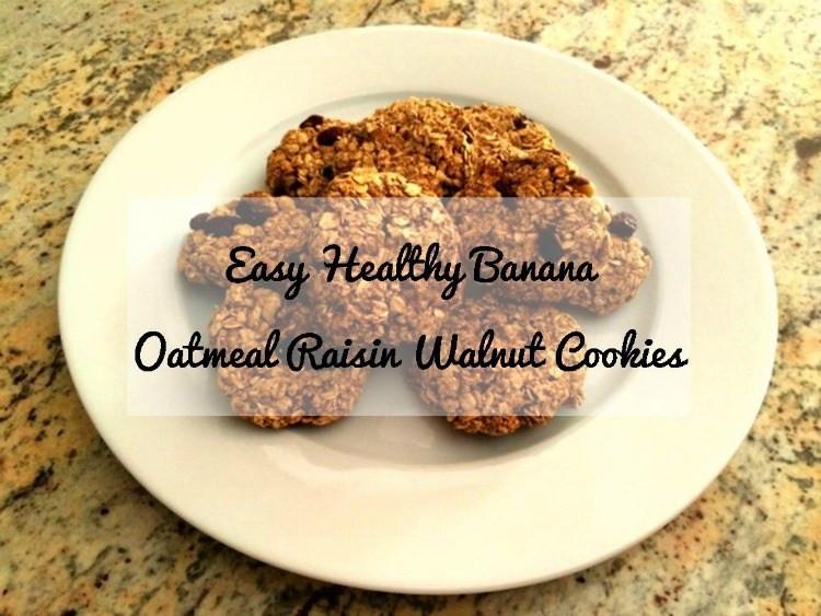 Healthy Oatmeal Walnut Cookies  Easy Healthy Banana Oatmeal Raisin Walnut Cookies Recipe
