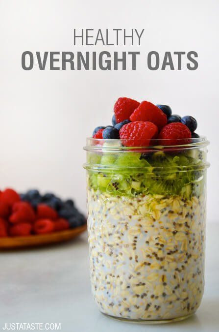 Healthy Oats Breakfast Recipes  Just a Taste Healthy Overnight Oats with Chia