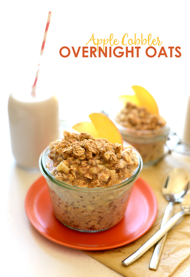 Healthy Oats Breakfast  Apple Cobbler Overnight Oats Recipe