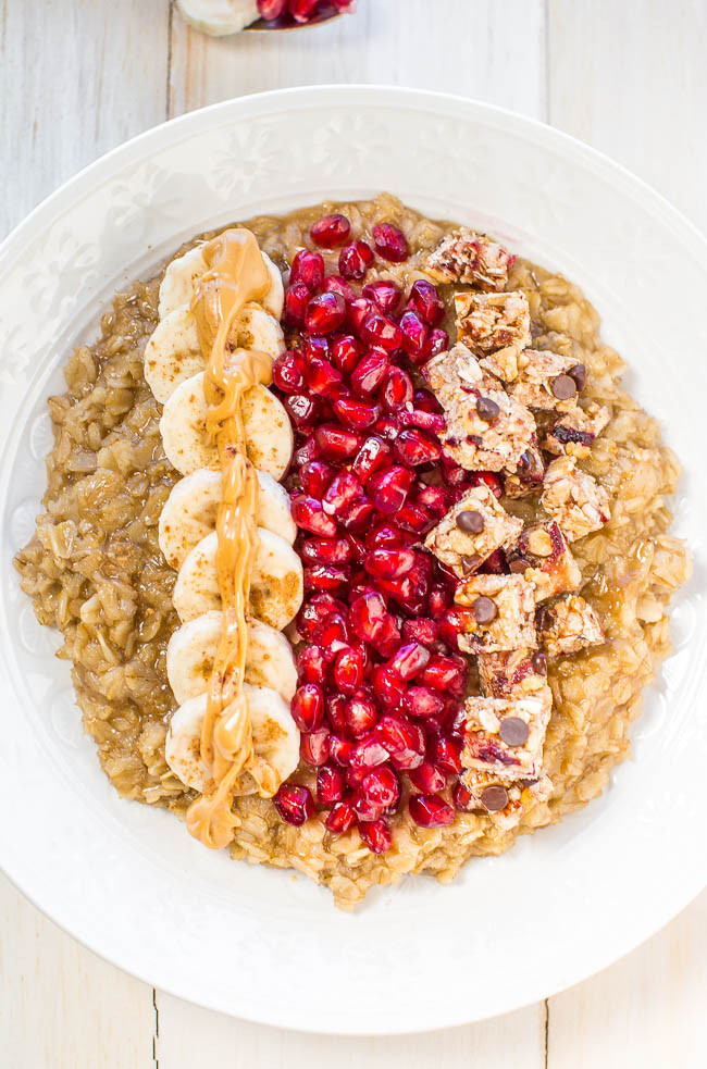 Healthy Oats Breakfast  Loaded Oatmeal Breakfast Bowl Averie Cooks