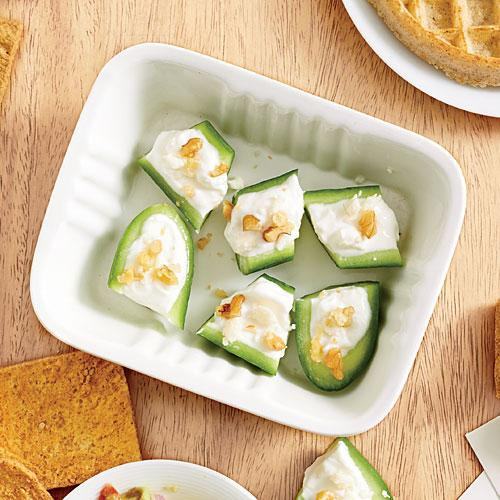 Healthy Office Snacks  Cucumber Feta Bites Healthy fice Snacks Cooking Light