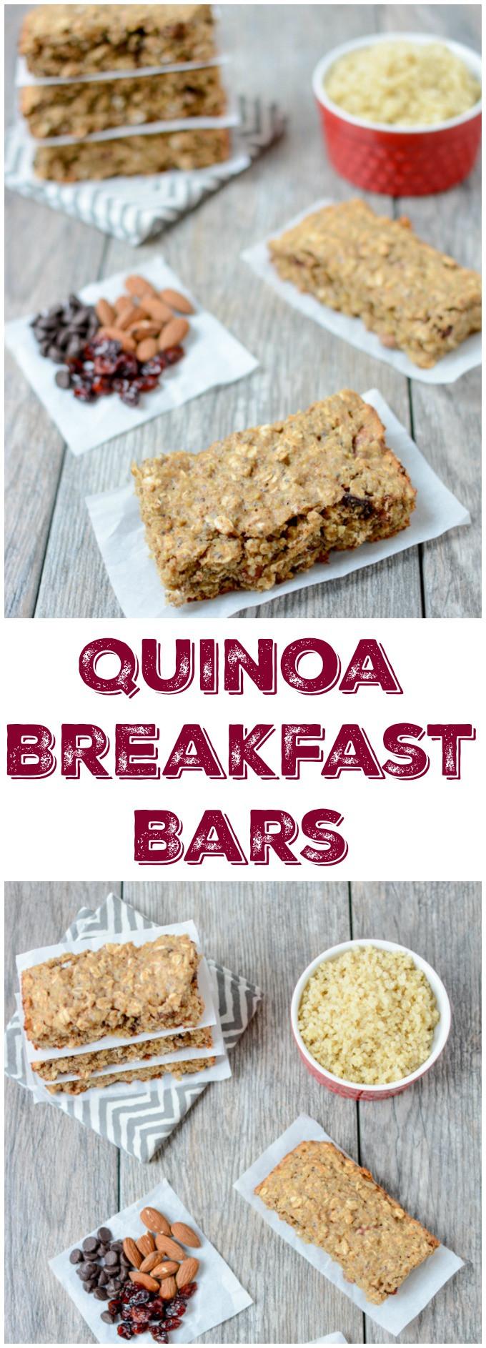 Healthy On The Go Breakfast Bars  Quinoa Breakfast Bars