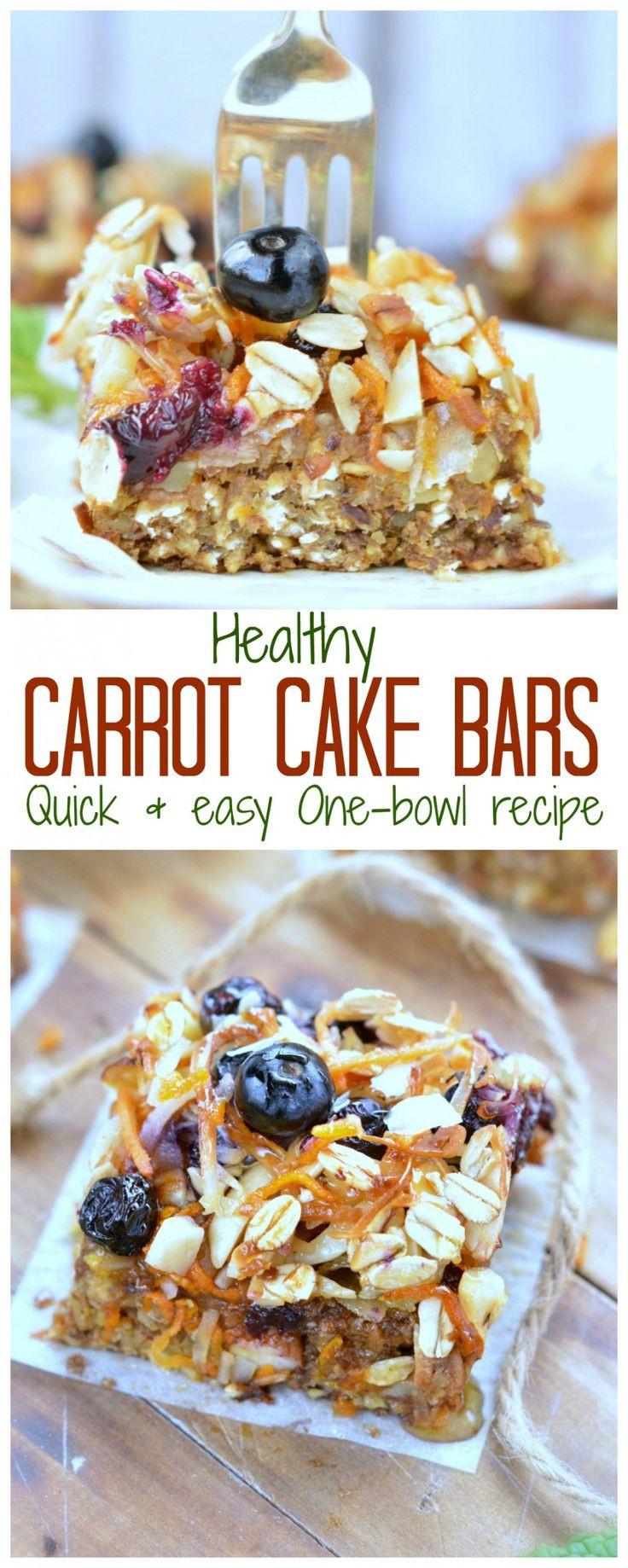 Healthy On The Go Breakfast Bars  25 best ideas about Carrot cake jam on Pinterest