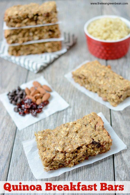 Healthy On The Go Breakfast Bars  Quinoa Breakfast Bars Recipe