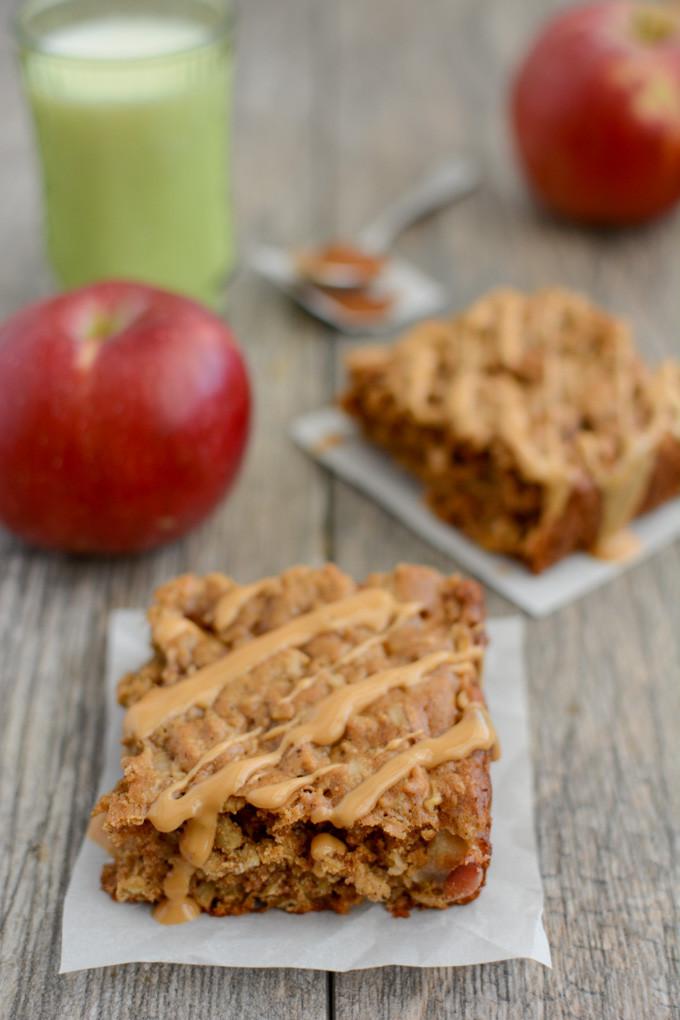 Healthy On The Go Breakfast Bars  Apple Cinnamon Breakfast Bars