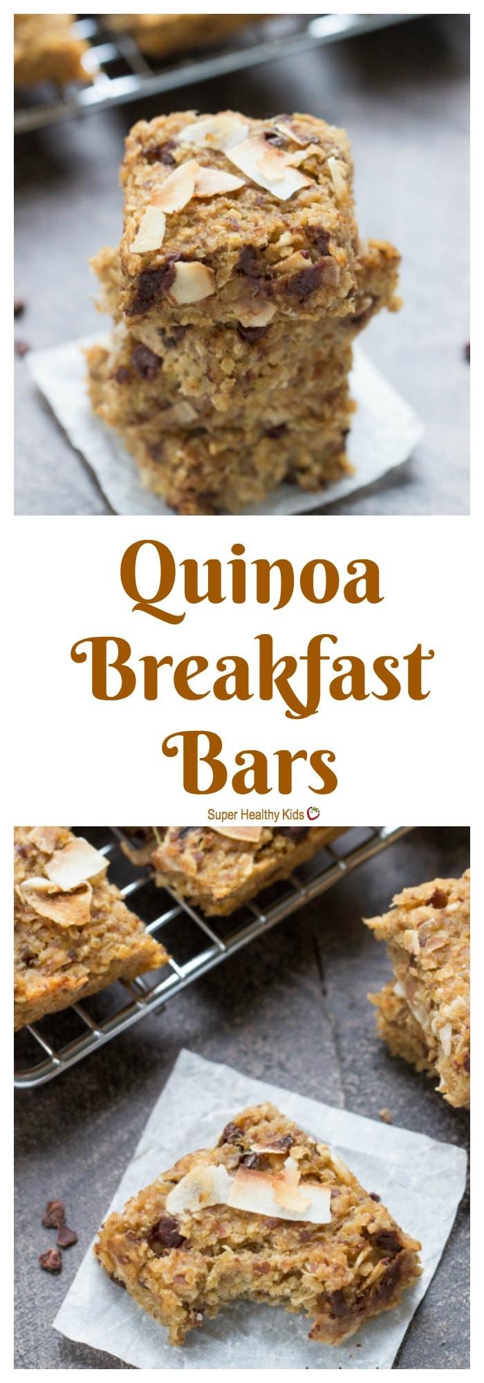 Healthy On The Go Breakfast Bars  Simple Quinoa Breakfast Bars