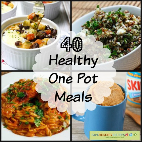 Healthy One Pot Dinners  40 e Pot Healthy Meals
