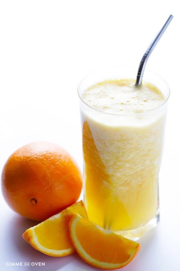 "Healthy Orange Dessert Recipes  Fresh Orange Smoothie ""Orange Julius"""
