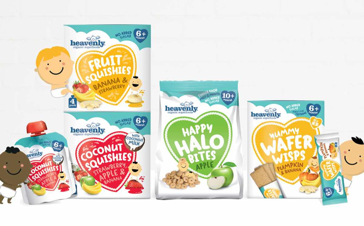 Healthy Organic Snacks  Organic children s food brand Heavenly launches new