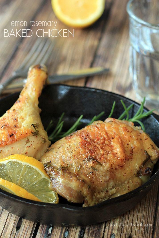 Healthy Oven Baked Chicken Recipes  Lemon Rosemary Baked Chicken Recipe