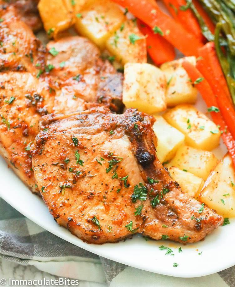 Healthy Oven Baked Pork Chops  10 Best Healthy Oven Baked Pork Chops Recipes