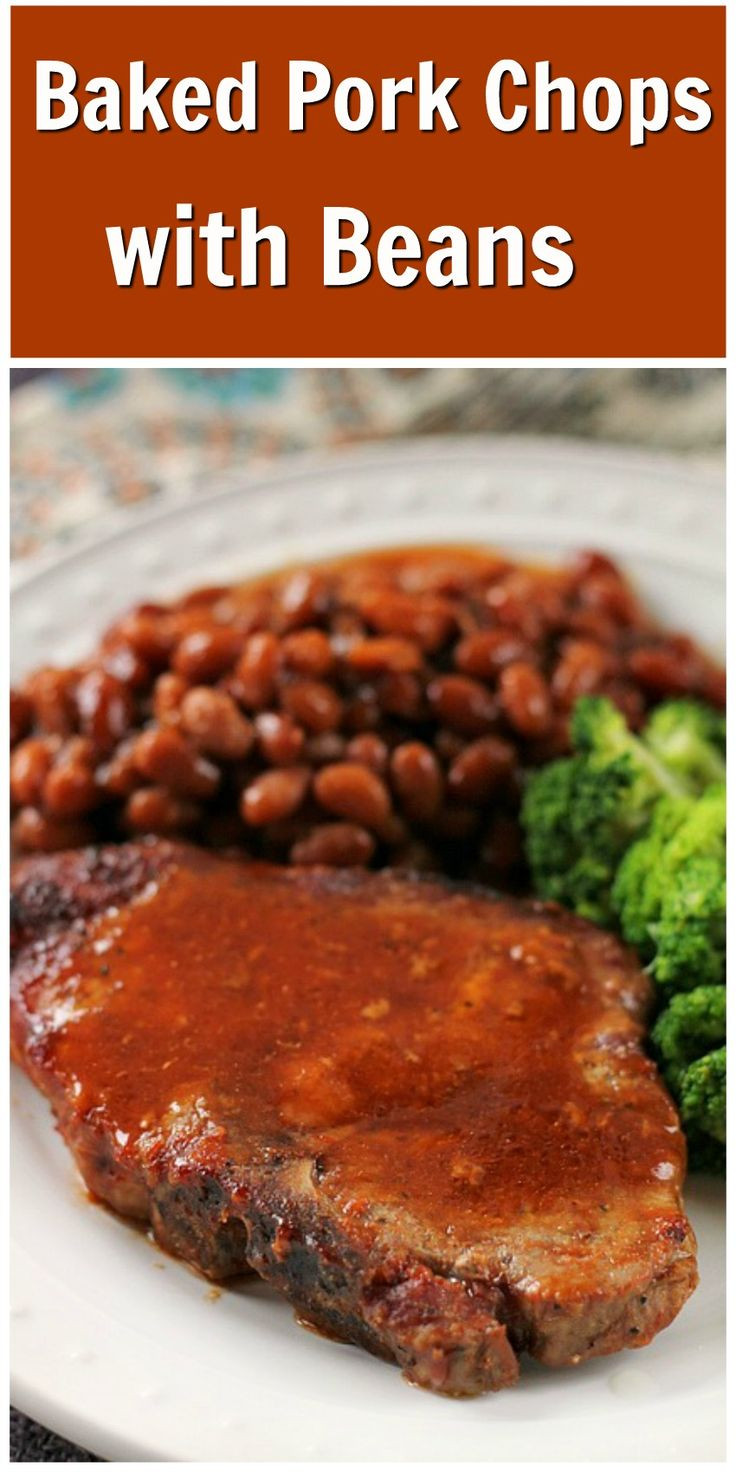Healthy Oven Baked Pork Chops  Baked Pork Chops with Beans Recipe