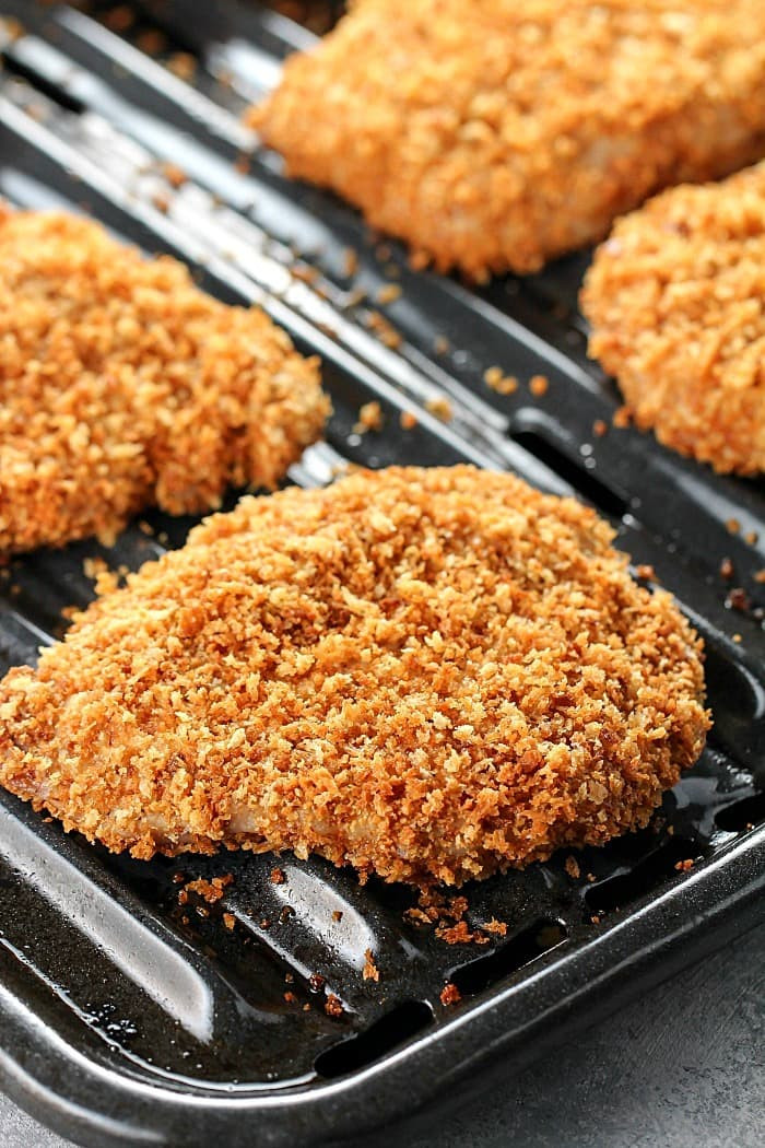 Healthy Oven Baked Pork Chops  Crispy Baked Breaded Pork Chops Yummy Healthy Easy