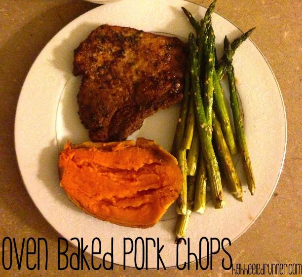 Healthy Oven Baked Pork Chops  Healthy Oven Baked Pork Chops via Running In Heels