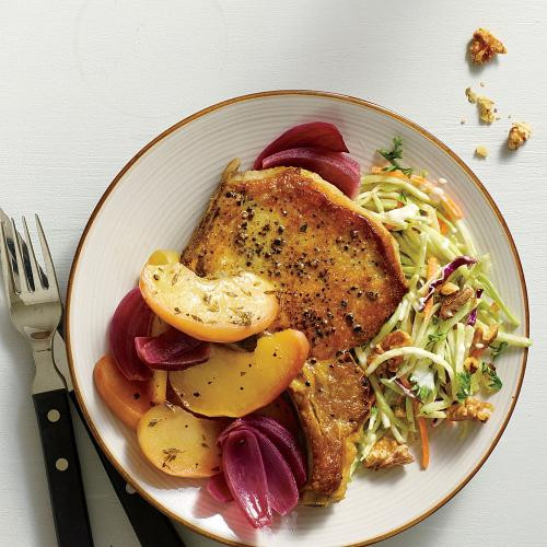 Healthy Oven Baked Pork Chops  Oven Baked Pork and Apples Healthy Pork Chop Recipes