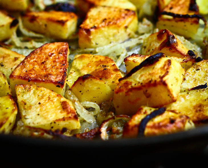 Healthy Oven Roasted Potatoes  healthier oven roasted potatoes