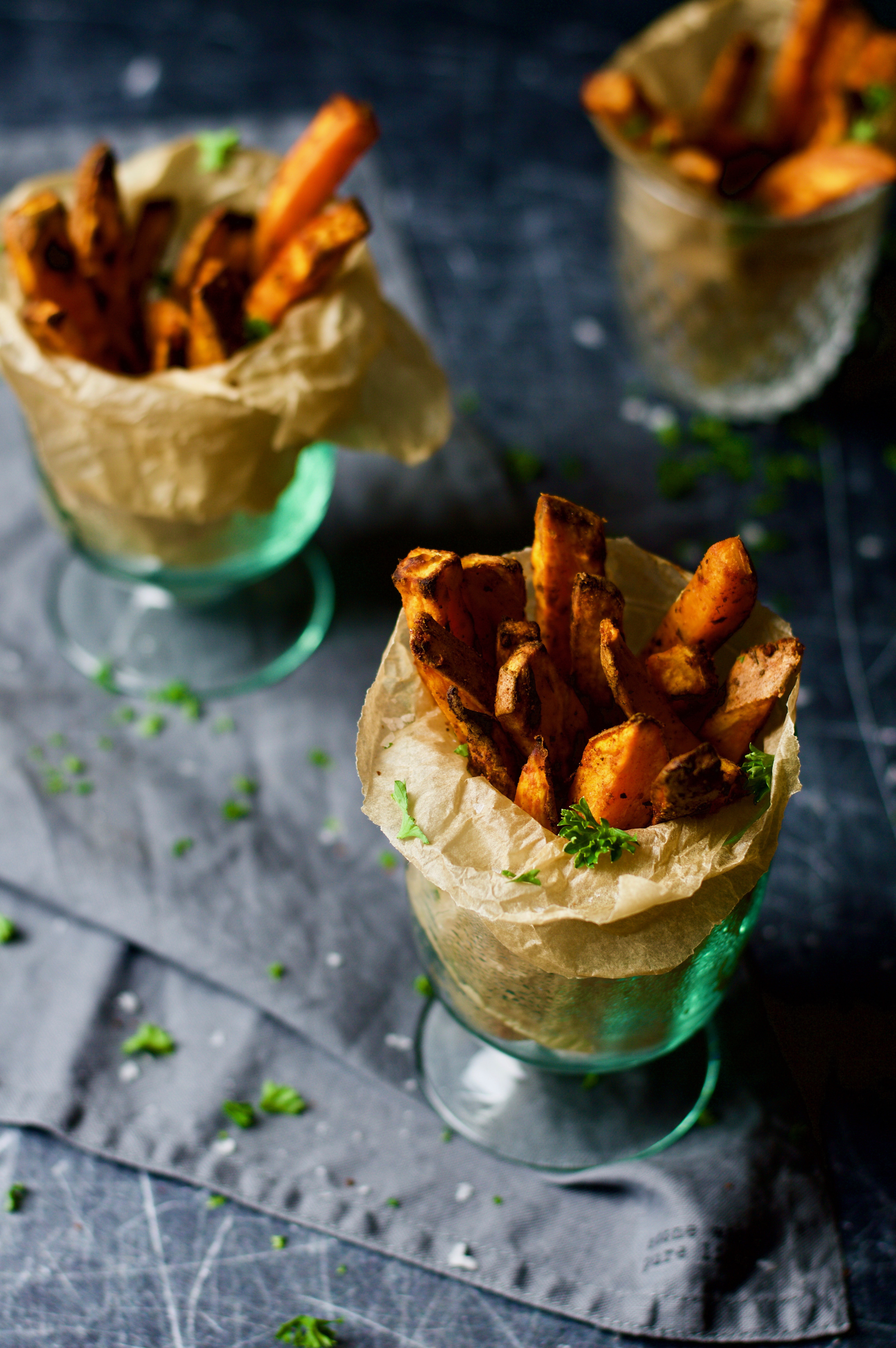 Healthy Oven Roasted Sweet Potatoes  healthy oven baked sweet potato fries – the little cherry tree