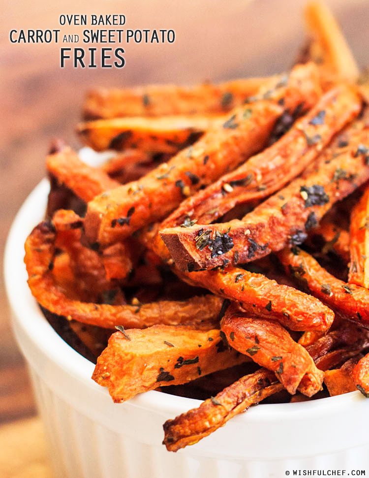Healthy Oven Roasted Sweet Potatoes  Oven Baked Carrot and Sweet Potato Fries Wishful Chef