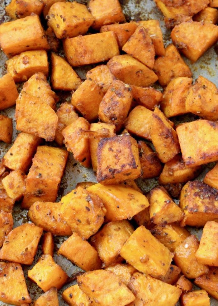 Healthy Oven Roasted Sweet Potatoes  Healthy Sweet Potato Mash Recipe • CiaoFlorentina