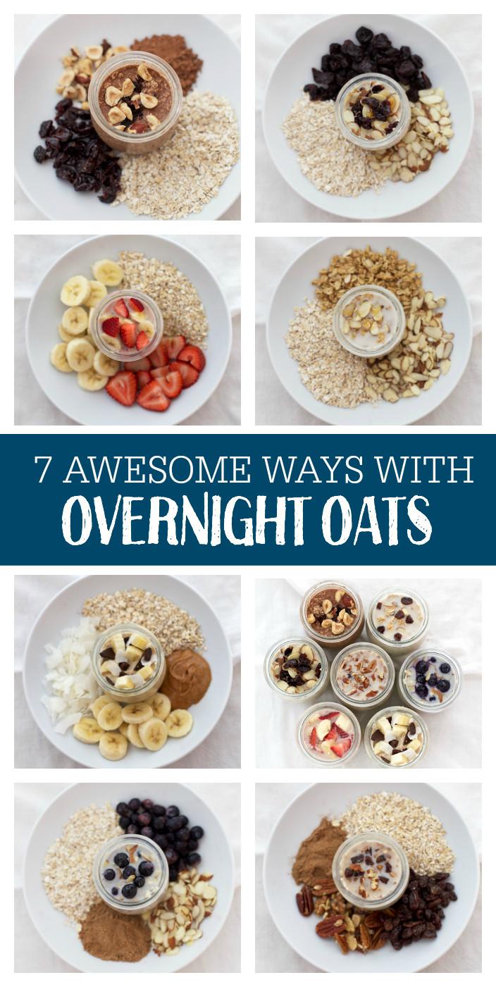 Healthy Overnight Oats Recipe  7 Ways with Overnight Oats e Lovely Life